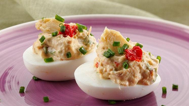 Huevos rellenos de atun Conservera de Tarifa