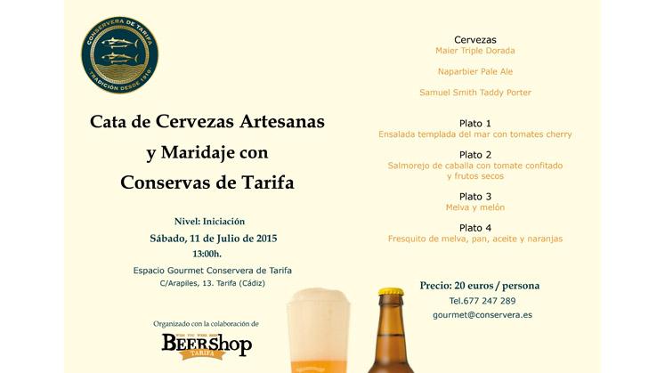 Cata de Cervezas y Maridaje con Conservas de Tarifa