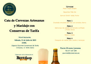 Cata de cervezas Artesanas y maridaje con Conservas de Tarifa