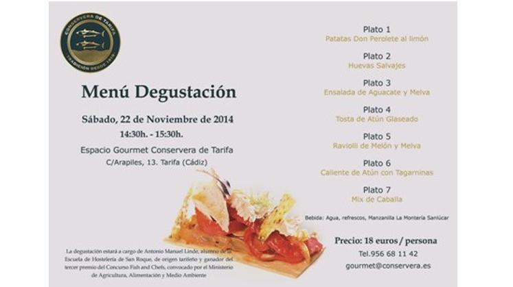 Menú Degustación en el Espacio Gourmet de la Conservera de Tarifa