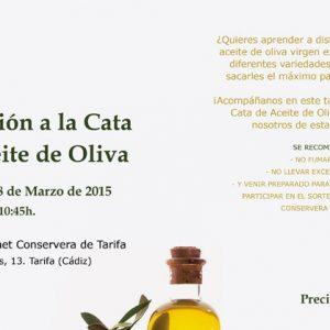cata aceite Espacio Goumet Conservera de Tarifa