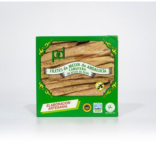 Filetes de Melva de Andalucía Canutera en Aceite de oliva Piñero y Diaz 550