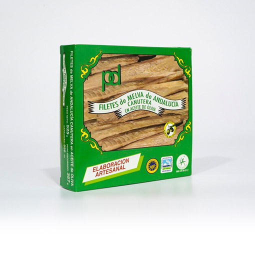 Filetes de Melva de Andalucía Canutera en Aceite de oliva Piñero y Diaz