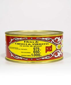 Filetes de Caballa de Andalucía Aceite de Girasol Piñero y diaz 975 grs.