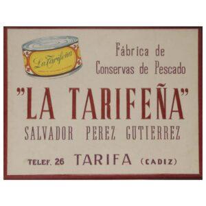 cartel La Tarifeña antiguo